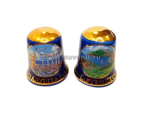 Наперсток керам. (13140B) Крым син/зол Алушта - Малореченское - Партенит (24/720)