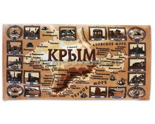 Полотенце БОЛЬШОЕ ХБ (SS) Крым история ТЁМНЫЙ
