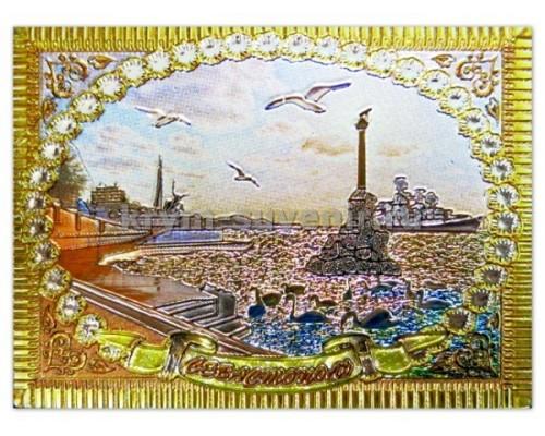 Севастополь ПЗК+наб.ночь картина (FS-147) магнит фольга (25/300)