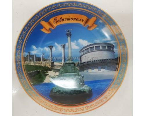 Тарелка фарфор. 3-L 21 см. Севастополь + подставка