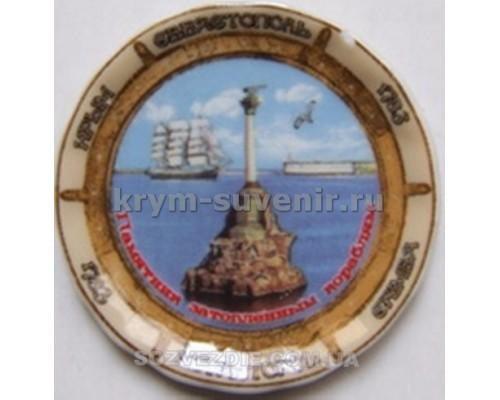 Магнит фарфор. US тарелочка Севастополь (11167) (72/864)