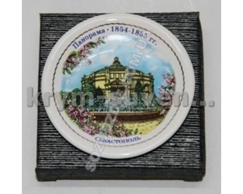 Магнит фарфор. ADV тарелочка Севастополь Панорама