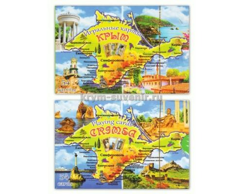 Карты игральные US 54 Крым: карта Крыма (CCR-105-4) уп. 200 шт.