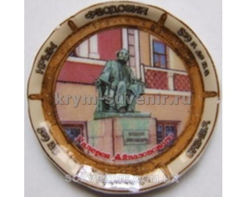 Магнит фарфор. US тарелочка Феодосия 11162 (72/864)