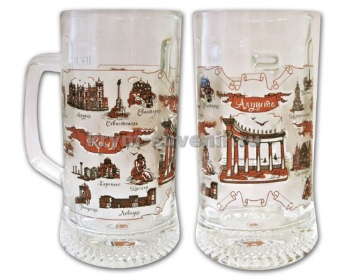 Бокал стекло (СЮ) 1007 Алушта Крым, 330 мл.