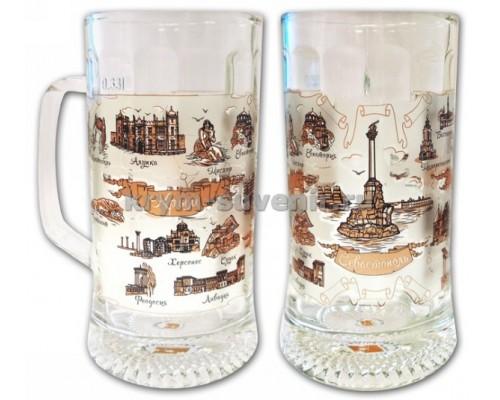 Бокал стекло (СЮ) 1006 Севастополь Крым, 330 мл.