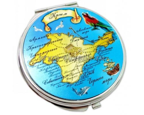 Зеркальце металлическое M2 Крым карта полуостров