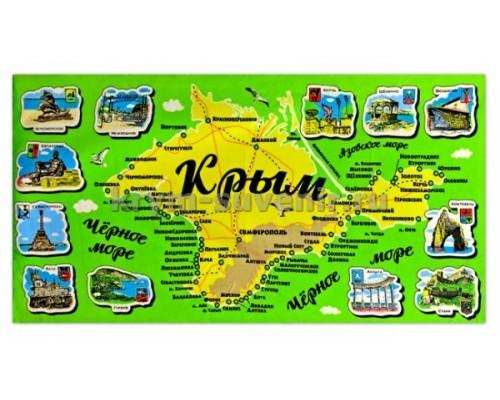 Полотенце МИКРОФИБРА (SS-1504-С) Крым гравюра ЗЕЛЕНОЕ БОЛЬШОЕ