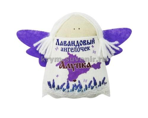 Магнит из ткани с лавандой ангел Алупка карта