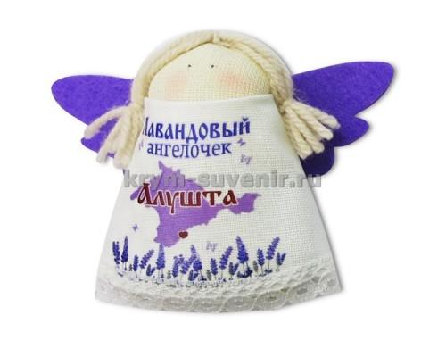 Магнит из ткани с лавандой ангел Алушта карта