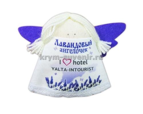 Магнит из ткани с лавандой ангел гостиница Ялта интурист