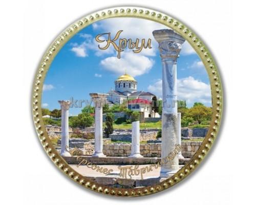 Медаль шоколадная сувенирная  Херсонес колонны 65 гр. (50шт./уп.)