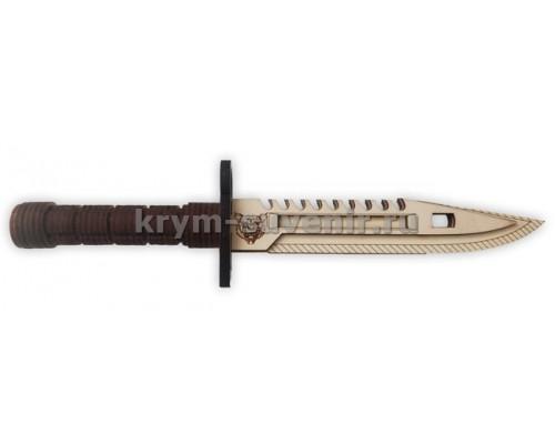 Нож сувенирный деревянный М9 нож командос 33 см