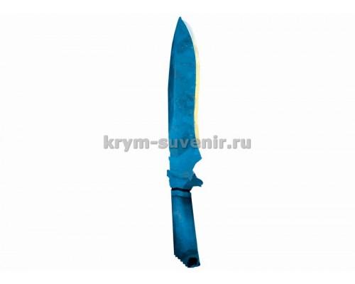 Нож сувенирный деревянный классический (2) Гамма Волны