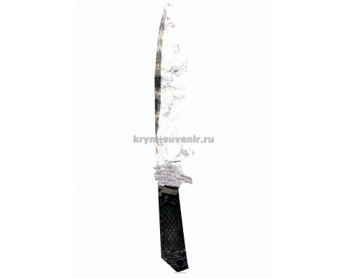 Нож сувенирный деревянный классический (5) Дамасская сталь