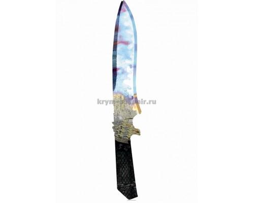Нож сувенирный деревянный классический (10) Чистая вода