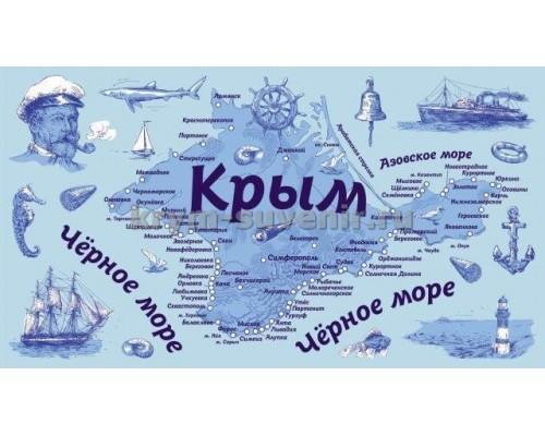 Полотенце БОЛЬШОЕ ХБ Крым Капитан 12 шт./уп.